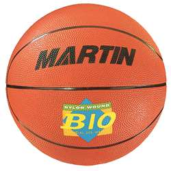 Basketball Official Orange Rubber Nylon Wound By Dick Martin Sports