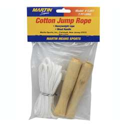 Jump Rope Cotton 7Wood Handle By Dick Martin Sports