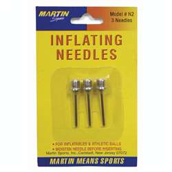 Inflating Needles 3-Pk On Blister Card By Dick Martin Sports