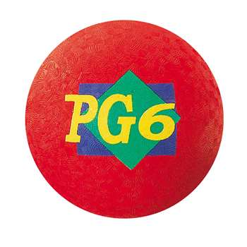 "Playground Ball Red 6"", 2 Ply By Dick Martin Sports"