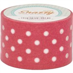 Mavalus Snazzy Red W/ White Polka Dot Tape 1.5 X 39 By Dss Distributing