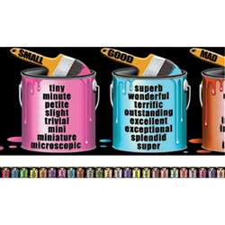Brighten Your Vocabulary Chalkboard Topper By Mcdonald Publishing