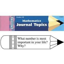 Journal Booklet Mathematics Gr 4-8 By Mcdonald Publishing