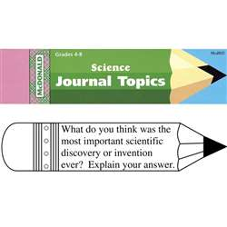 Journal Booklet Science Gr 4-8 By Mcdonald Publishing