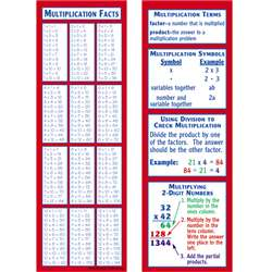 Multiplication Smart Bookmarks By Mcdonald Publishing