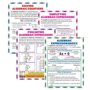 Algebraic Equation Teach Poster Set, MC-P088