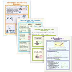 Working With Decimals Poster Set By Mcdonald Publishing