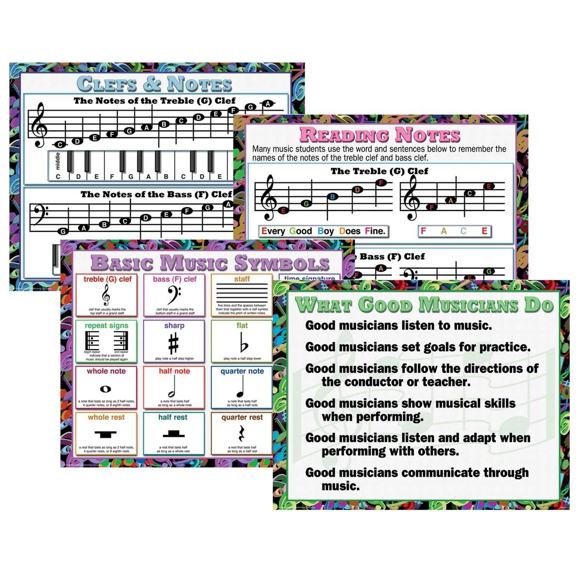 Music Teaching Poster Set Mc P960 Mcdonald Publishing Miscellaneous
