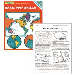 Basic Map Skills Gr 6-9 By Mcdonald Publishing