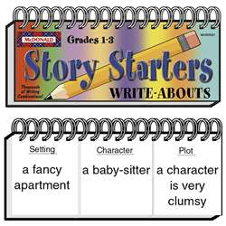 Write-Abouts Story Starters Gr 1-3 S 1-3 By Mcdonald Publishing