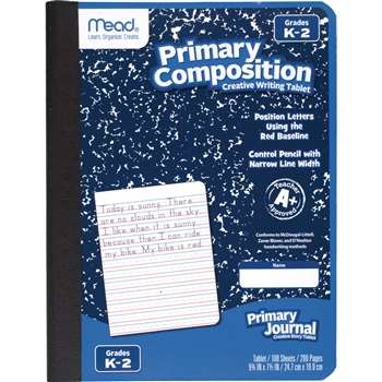 Primary Composition Book Full Page Ruled 100 Ct By Mead Products
