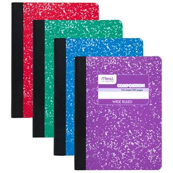 Composition Book Fashion Colors Assorted By Mead Products