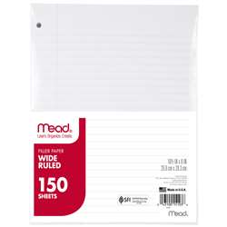 Notebook Paper Wide Ruled 150Ct By Mead Products
