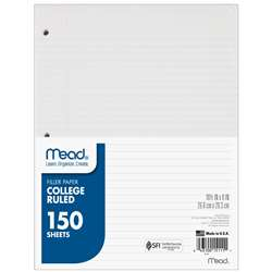Notebook Paper College Ruled 150Ct By Mead Products