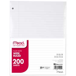 "Paper Filler Wm 10 1/2"" X 8"" 200 Ct By Mead Products"