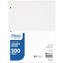 "Paper Filler Col 10 1/2""X 8"" 200 Ct By Mead Products"