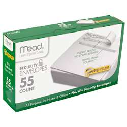Press It Seal It No6.75 55Ct Security Envelopes By Mead Products