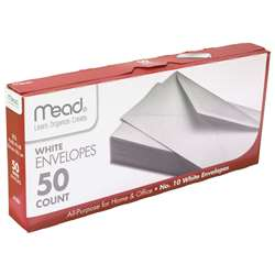 Envelopes Plain #10 50 Ct By Mead Products