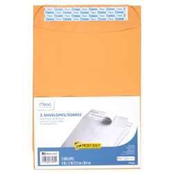 Mead Press It Seal It 5Ct 9 X 12 Envelopes By Mead Products