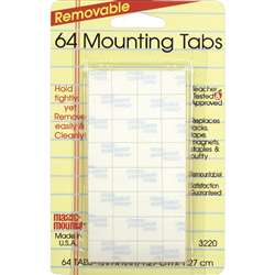 Magic Mounts Mounting Tabs 1/2X1/2 64Pk By Miller Studio