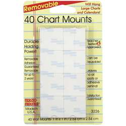 Magic Mounts Chart Mounts 1In X 1In Pack Of 40 By Miller Studio