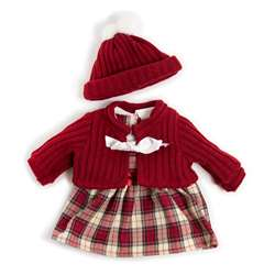 Doll Clothes Cold Weather Dress Red, MLE31558