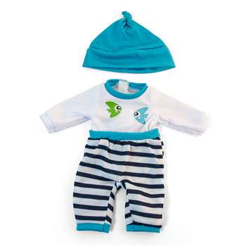 Doll Clothes Turquoise Pajamas, MLE31631