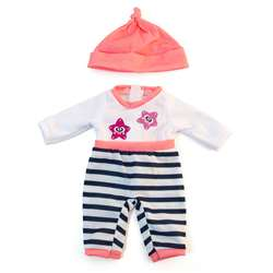 Doll Clothes Salmon Pajamas, MLE31632