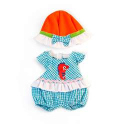 Doll Clothes Warm Weather Romper/ Hat Set, MLE31642