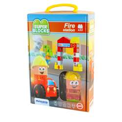 Super Blocks Fire Station Set, MLE32352