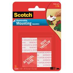 Mounting Squares Removable 16 1 Squares Per Pk By 3M