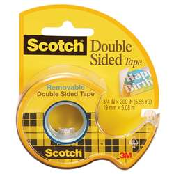 Scotch Double Sided Tape 3/4X200In By 3M