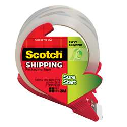 Scotch Sure Start Shipping Packing Tape With Dispenser 1.88 X 38.2 Yd By 3M