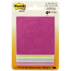 Post-It Notes Pastel 4 Pads 50 Sheets Each By 3M