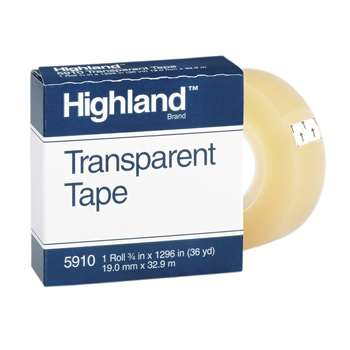 Tape Highland Transparent 3/4 X 1296 By 3M