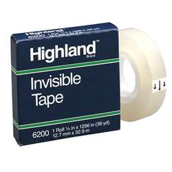 Highland Invisible Tape 1/2X1296In By 3M