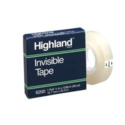 "Highland Invisible Tape 5X1296"" (12 Rl), MMM6200121296BN"