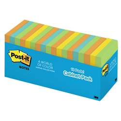 Post-It Notes In Cabinet Packs 3X3 Neon Colors 18 Pads By 3M