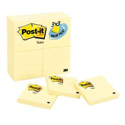 Post-It Notes Value Pk 24 Pads 3X3 Canary Yellow By 3M