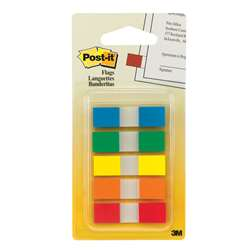 Flags Sm Portable .47X1.7 100Flg 5Clr Primary Colors By 3M