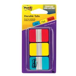 Durable Index Tabs 1X1.5 3/Pk By 3M