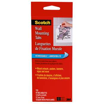 Wall Mounting Tabs 1 2 Quot X 3 4 Quot 48 Ct By 3m Adhesives