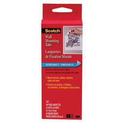 "Wall Mounting Tabs 1/2""X3/4"" 144 Ct By 3M"