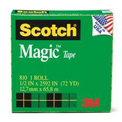 Tape Scotch Magic 1/2 X 36 Yds By 3M