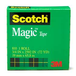 Tape Scotch Magic 3/4 X 36 Yds By 3M