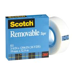 Tape Removable Magic 3/4 X 36 Yds By 3M