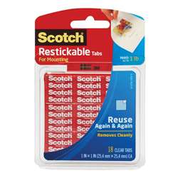 Scotch Restickable Tabs 1 X 1 In 18 Squares By 3M