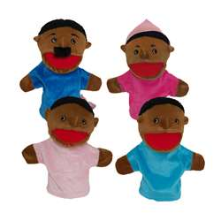 Family Bigmouth Puppets African American Family Of 4 By Get Ready Kids