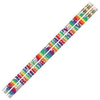 Birthday Blitz 12Pk Motivational Fun Pencils By Musgrave Pencil
