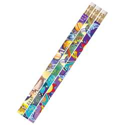 Galaxy Galore 12Pk Motivational Fun Pencils By Musgrave Pencil